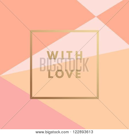 Love greeting card. Minimal printable journaling card, creative card, art print, minimal label design for banner, poster, flyer.