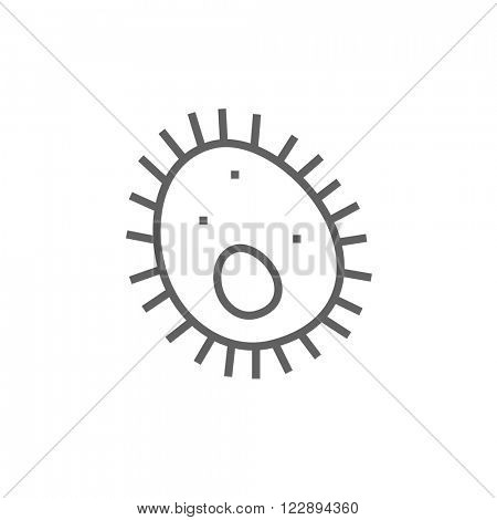 Bacteria line icon.