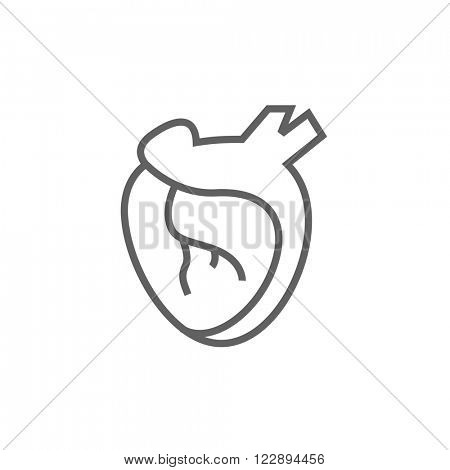 Heart line icon.