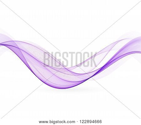 Abstract wavy lines.  Colorful purple wave vector background. Brochure or website design.