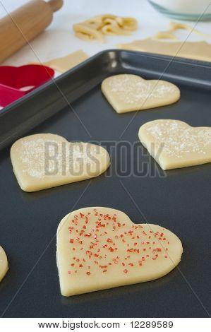 Pan Of Heart Cookies