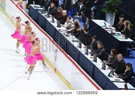 Team Russia Two With Judges