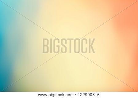 Yellow Burst - Simplistic Blurry Background, Bright Pastel Tones