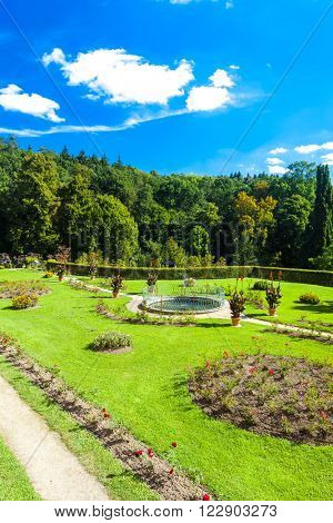 garden of palace in Kamenice nad Lipou, Czech Republic