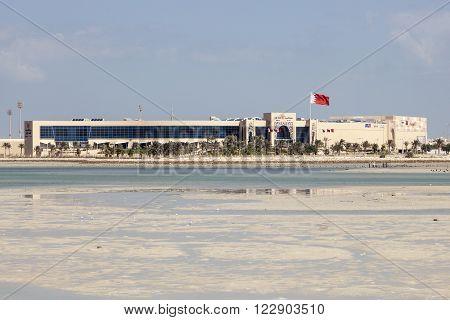 MUHARRAQ BAHRAIN - NOV 14: New Seef Mall in the city of Muharraq. November 14 2015 in Muharraq Kingdom of Bahrain