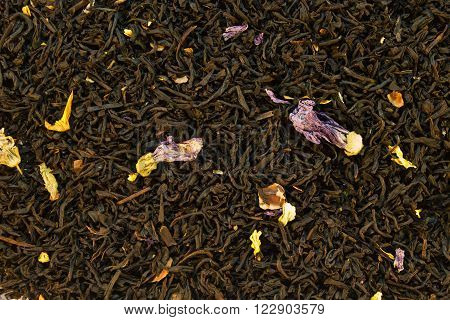 Background Of Black Tea With Additives