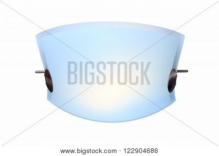Modern ceiling lamp on the white background