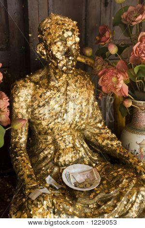 Buddha Covered With Gold Leaf