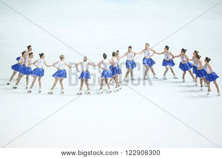 Team Zagreb Snowflakes Senior In A Line