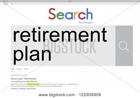 Retirement  Plan Pension Finance Earning Life Concept