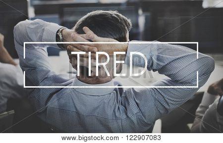 Tired Despair Stress Failure Problem Concept