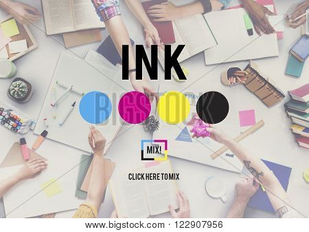 Ink Abstract Arty Pattern Color Paint Liquid Concept