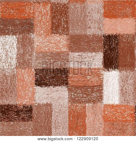 Seamless pattern with weave grunge striped quilt rectangular elements for plaid,carpet,cloth in brown,beige,white colors