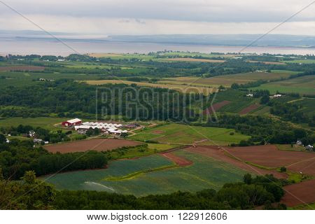 Overlooking Delhaven and the Minas Basin from