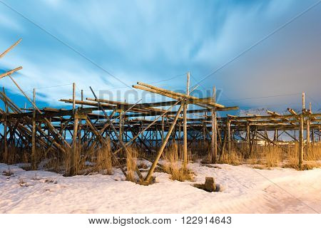 Stockfish Racks - Reine, Lofoten Islands, Norway