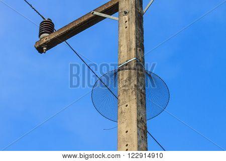Nylon Mesh Prevent Snake To Climb On Electric Pole