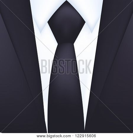 Tuxedo vector background with tie. Vector illustration.