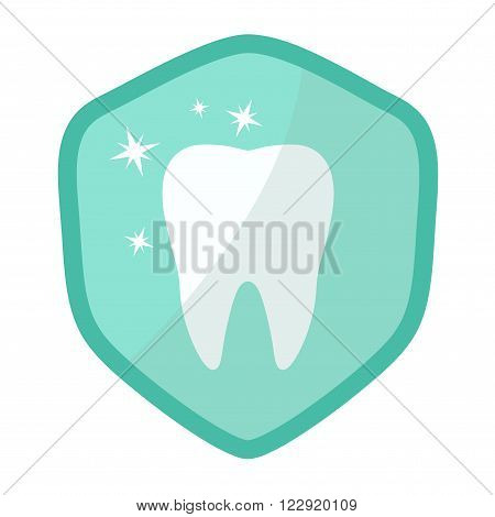 Teeth whitening vector icon. Isolated on white background