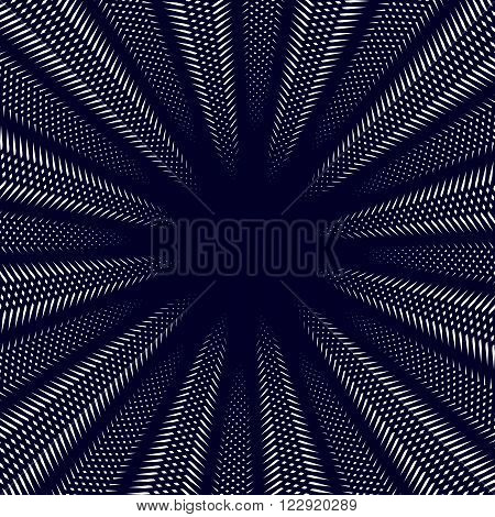 Moire Pattern, Op Art Background. Hypnotic Backdrop With Geometric Black Lines. Abstract Vector Tili