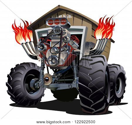 Cartoon Monster Truck. Available EPS-10 separated by groups for easy edit