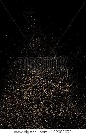Gold Glitter Texture Vector.