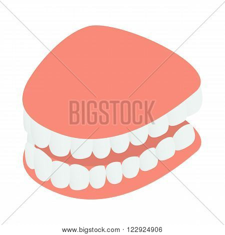 Dental jaw model icon in isometric 3d style on a white background