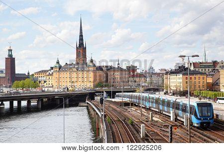 Stockholm near Slussen subway station, Sweden