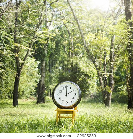 Clock Day 2PM Minute Nature Inspiration Time Concept
