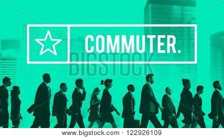 Commuter Pedestrian Passenger Traveler Wanderer Concept