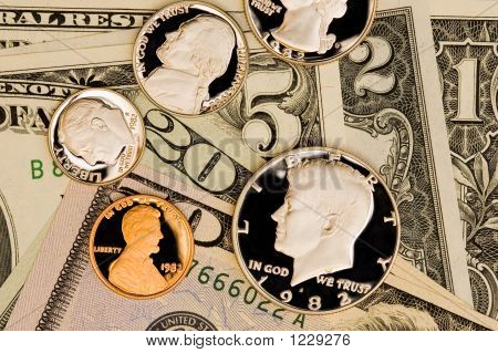 Perfect Uncirculated American Currency Close-Up