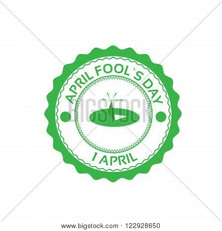 Drawing Pin First April Fool Day Happy Holiday Flat Vector Illustration