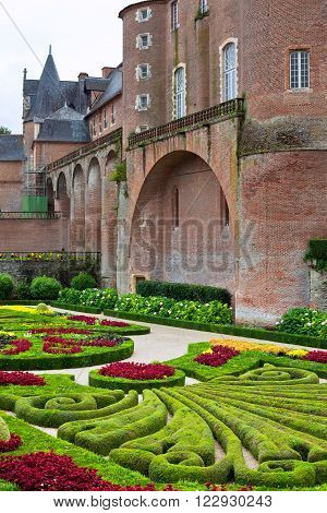 Palais De La Berbie Gardens At Albi, Tarn, France