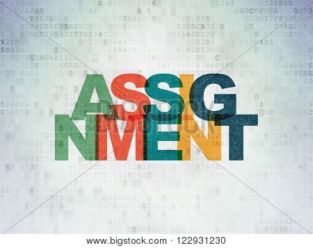Law concept: Assignment on Digital Paper background