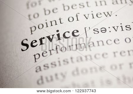 Fake Dictionary Dictionary definition of the word Service