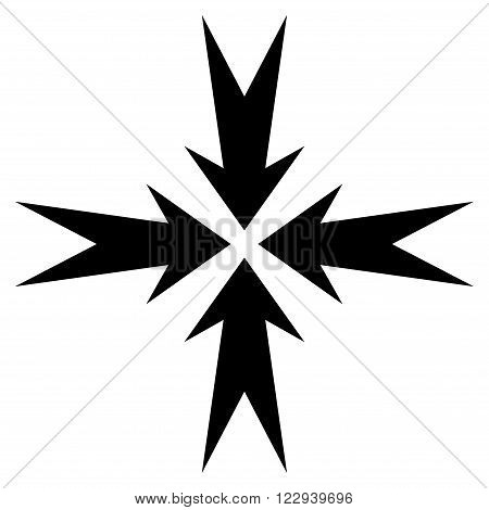 Compression Arrows vector icon. Style is flat icon symbol, black color, white background.