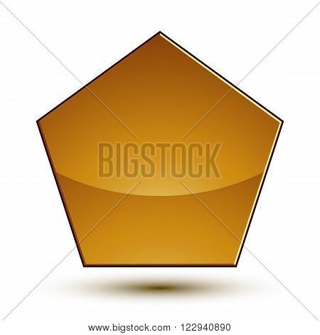 Wonderful vector template with golden copy space shield symbol best for use in web and graphic design. Heraldic icon clear eps8 vector.