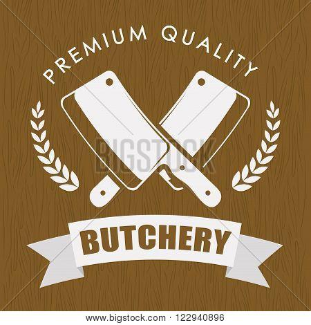 Butchery or butcher theme design, vector illustration graphic