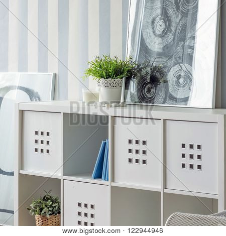 Image of living room with new design cube storage system