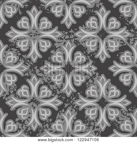 Vintage Seamless Pattern. Old Royal Ornament. Retro Background. Classic Style And Grunge Patterns. O