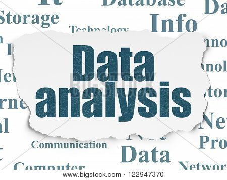 Information concept: Data Analysis on Torn Paper background
