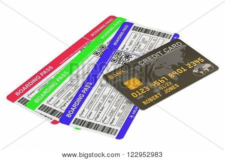 Buying air tickets concept isolated on white background