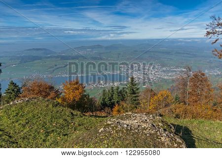 Amazing Panorama to Lake Luzerne, Alps, Switzerland