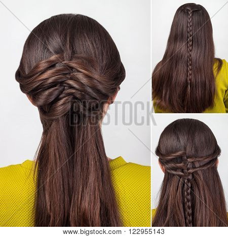 easy twisted hairstyle for long hair tutorial