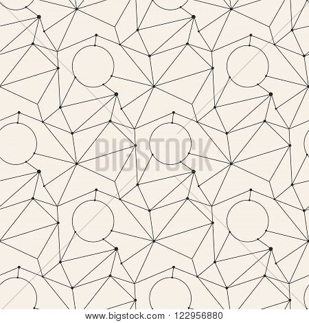 Seamless line abstract pattern tile background geometric set