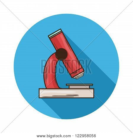 Microscope icon.Vector Microscope icon isolated with shadow.Hand draw Microscope vector.Medical device Microscope an optical instrument used for viewing very small objects