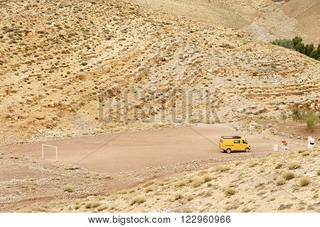 Gravel road in Middle Atlas Mountains, Morocco, Africa