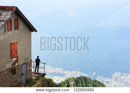 Cabin in Bucegi Mountains, Romania, Europe