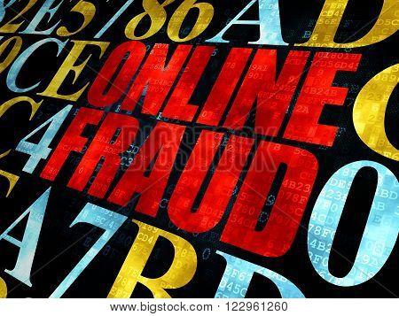 Safety concept: Online Fraud on Digital background