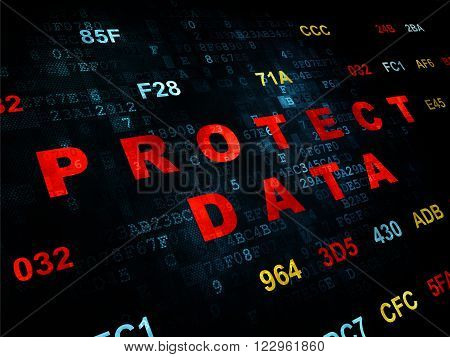 Security concept: Protect Data on Digital background