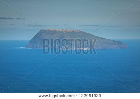 Corvo island, the smallest island of the Azores Archipelago
